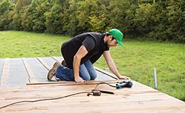 Entrepreneur en terrasse, pergola et clôture