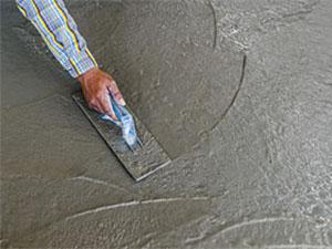 Rénovation d'un sol intérieur en béton