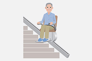 Installateur et entretien de monte escalier La terrasse sur dorlay