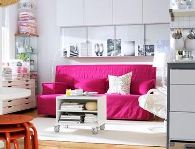 astuces pour combattre le manque de place la maison. Black Bedroom Furniture Sets. Home Design Ideas