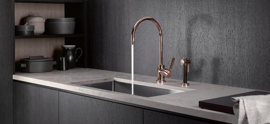 Des éviers et robinets qui allient pratique et esthétique