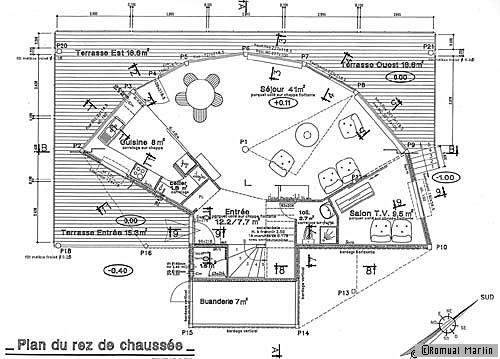 Plan de maison une maison en bois avec une vue for Plans de maison construits pour une vue