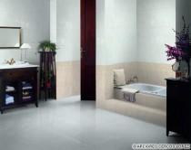 Sol de salle de bains : invitation au grand large et hymne à la couleur
