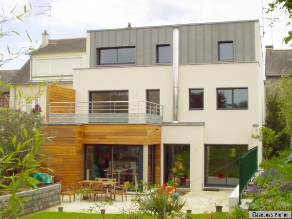 Plan de maison : une maison de ville à Rennes (35) - Travaux.com