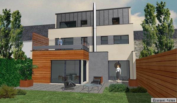Plan de maison une maison de ville rennes 35 for Plans de maison de ville