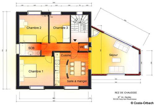 Plan De Maison Une Extension Lourde Pour Une Ralisation Lgre