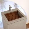 Vasque marbre et bois (GNLMF)