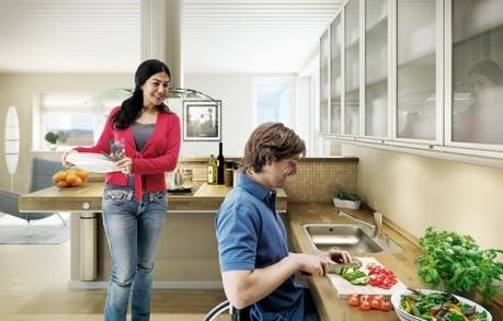 Cuisine pour personne à mobilité réduite Pressalite Care
