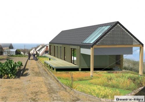 Plan de maison : la longère en bois répond à toutes les attentes d'un jeune couple - Travaux.com