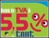 Conditions d'application de la TVA réduite à 5,5%