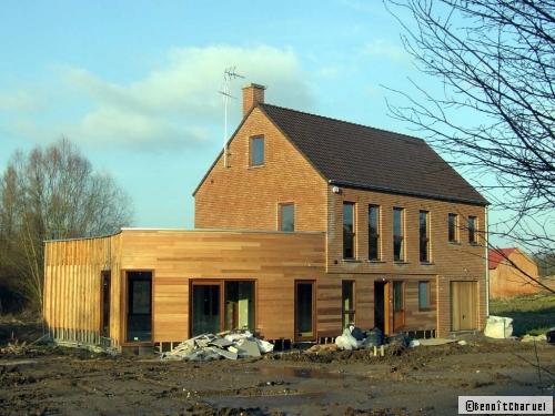 Plan de maison : en baie de Somme, une maison neuve en bois se joue des contrastes - Travaux.com