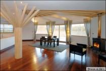 Une maison en bois, ronde et écologique