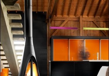 Poêle à bois: un chauffage performant et design