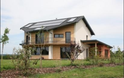 Maison à ossature bois à basse consommation près de Besançon