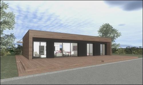 une maison ossature bois bbc pour euros sainte. Black Bedroom Furniture Sets. Home Design Ideas