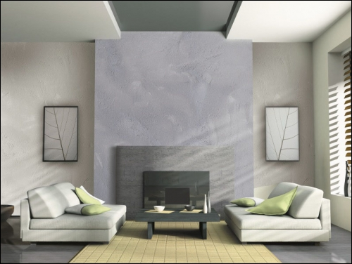 tendance d coration des peintures effet b ton. Black Bedroom Furniture Sets. Home Design Ideas