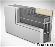 Des blocs en béton avec isolant : le retour du béton