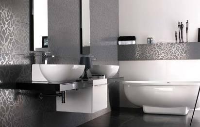 Carrelage de salle de bains Deco Filo Gris Pocelanosa
