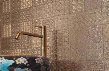 Carrelage de salle de bains dentelle Novoceram