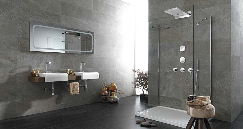 Idées de salle de bains dans l'air du temps