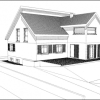 Plan d'une extension de maison