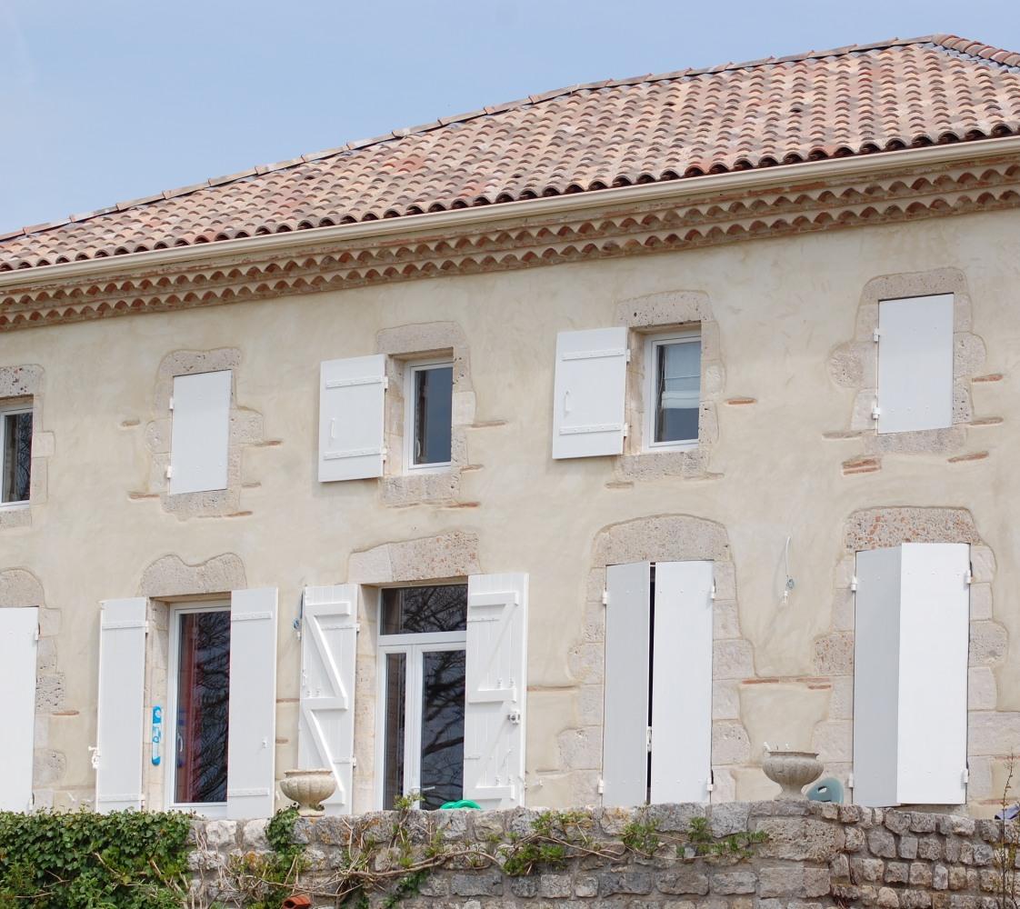R novation de fa ade en trois points - Maison facade blanche ...