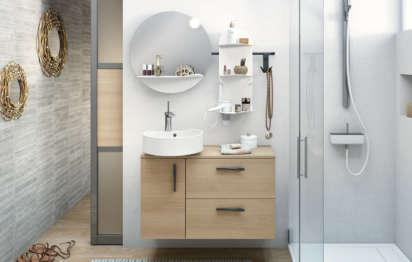 Aménager une petite salle de bains ©DR