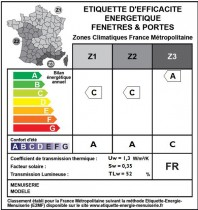 Etiquette Energie Menuiserie l'UFME