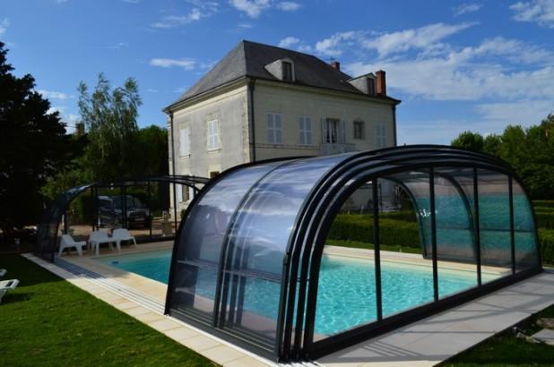 Abri de piscine télescopique Nautilus-ceramicline