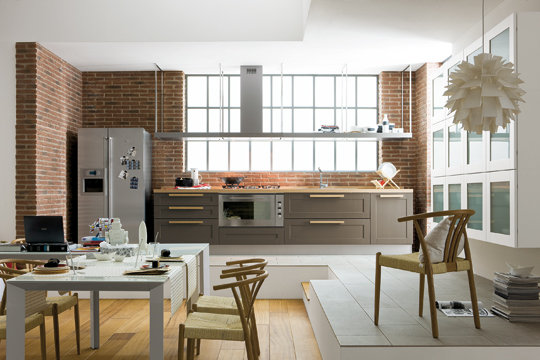 cuisine ouverte sur le salon pratique et conviviale. Black Bedroom Furniture Sets. Home Design Ideas
