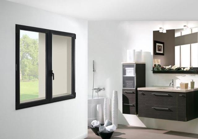 fen tre en aluminium centrale de la pose. Black Bedroom Furniture Sets. Home Design Ideas