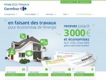 Prime éco-travaux site de Carrefour
