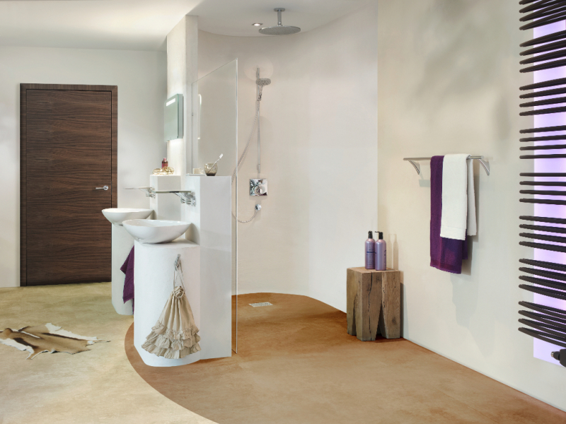Salle de bains avec système de panneaux JACKOBOARD Jackson insulation