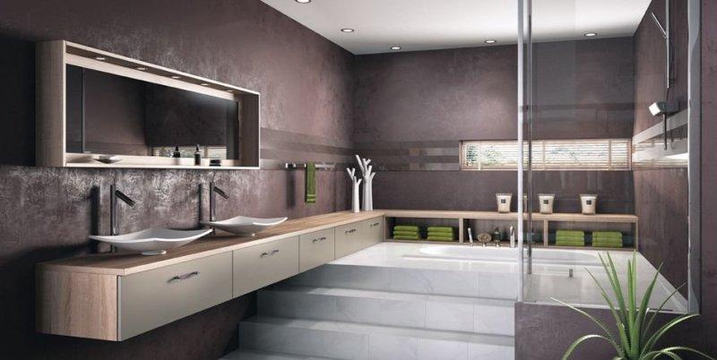 Salle de bains Loa Basalte Satiné Mobalpa