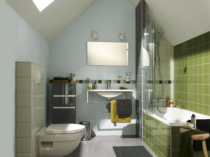 Salle de bains sous les toits Leroy Merlin
