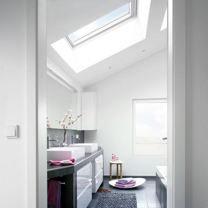 Salle de bains sous les toits © Velux