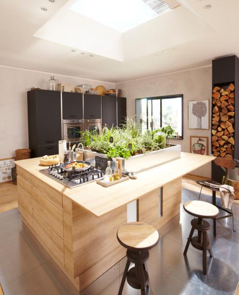 Cuisine en bois mat Edition/ GRAPHIC Leroy Merlin
