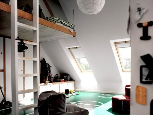 Aménager une chambre sous les combles ©Velux