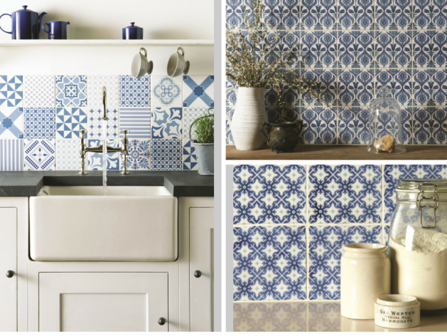Droite: © The Winchester Tile Company Gauche: Odyssey Collection ©  Original Style