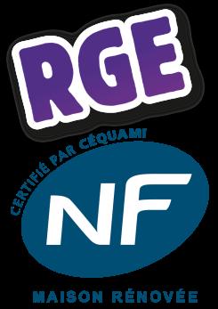 LOGO RGE NF Maison rénovée © Cequami