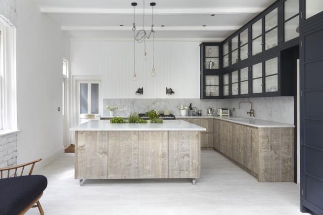 Cuisine Bois Architects Blakes London Industrial Chic