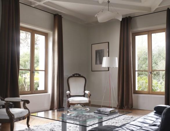 Porte-fenêtre bois © Lapeyre Classic bois chêne