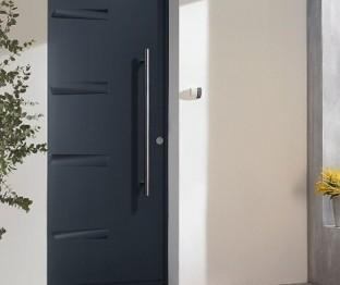 Porte d'entrée en acier La boutique du menuisier