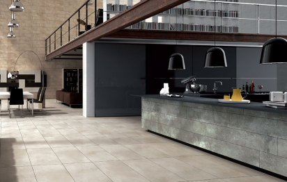 Carrelage Grand Formant Cement © Tau Ceramicas