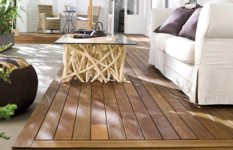 """Terrasse bois """"Madera Natural"""" © Antic colonial by Porcelanosa"""