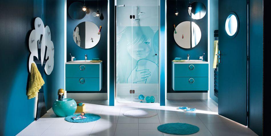Deco Salle De Bain Gris Et Bleu Turquoise. Free Si La Ta Tendance ...