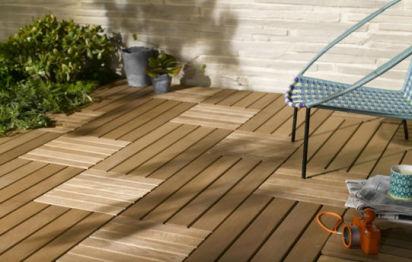 Terrasse en dalle de bois Lapeyre