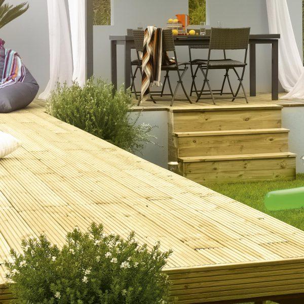 Terrasse bois pin Kimeo Leroy Merlin