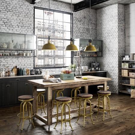 Aménagement de cuisine style industriel ©Ghify