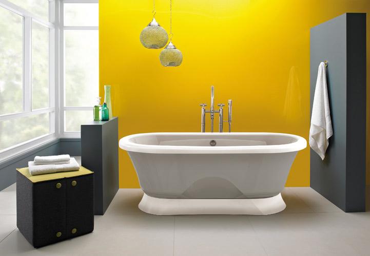 Salle de bains Jaune ©JACUZZI - Travaux.com